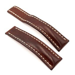 BREITLING Brown Leather Strap, 24-20mm